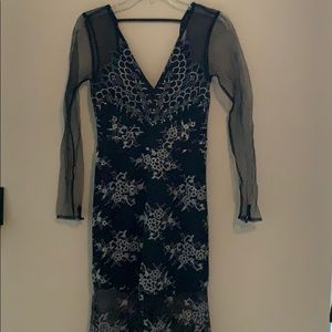 Black Mesh Dress - EVERYTHING MUST SELL TODAY!